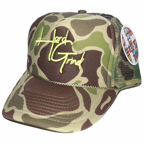 HG Trucker Hat - Camo/Neon Green