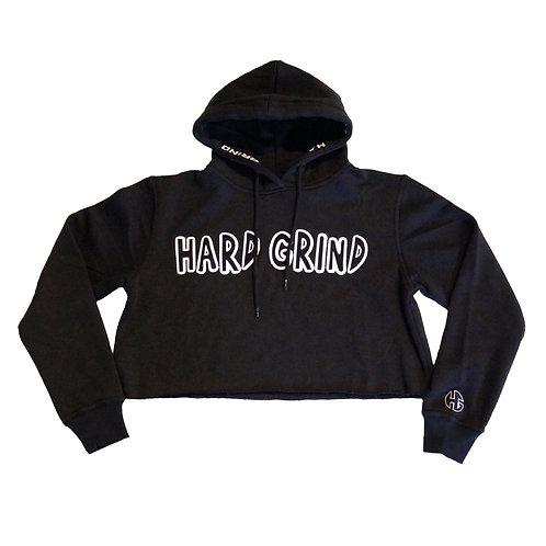 Womens HG Classic Crop Hoodie - Black/White