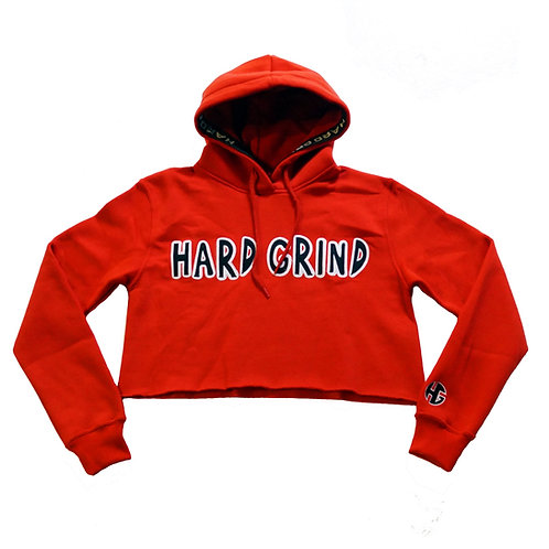 Womens HG Classic Crop Hoodie - Red/Black/White