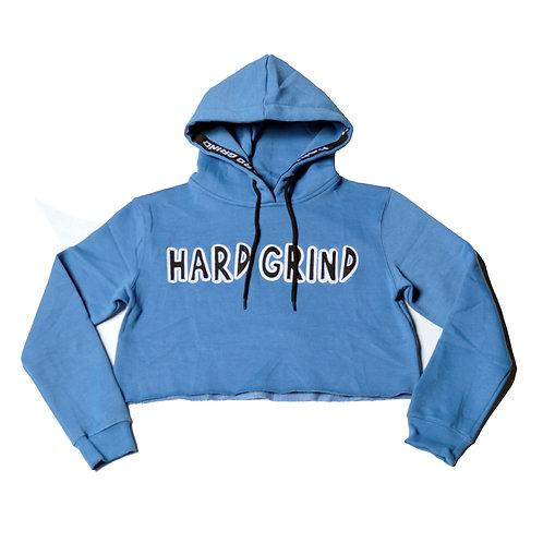 Womens HG Classic Crop Hoodie - Arctic Blue/Black/White