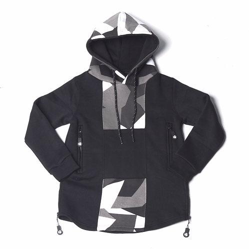 Youth HG Signature Camo Hoodie - Black/Grey/White