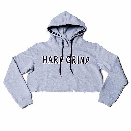 Womens HG Classic Crop Hoodie - Light Grey/Black/White