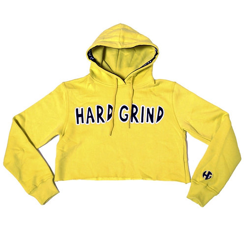 Womens HG Classic Crop Hoodie - Yellow/Black/White