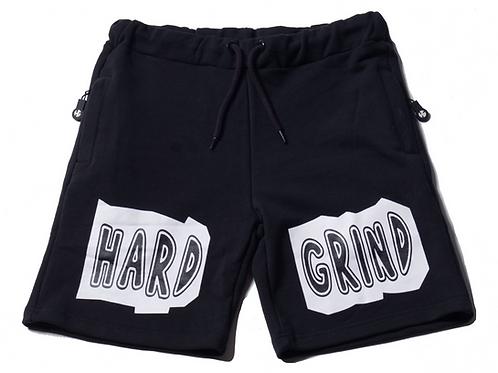 Mens HG Stay Solid Shorts - Black/White