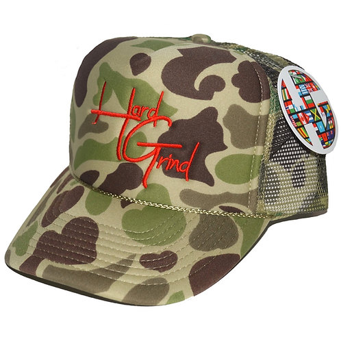 HG Trucker Hat - Camo/Red