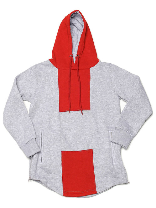 Youth HG Signature Hoodie - Grey/Red