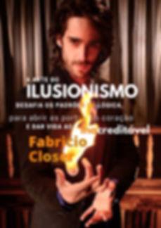 Logo Mágico Ilusionista Fabricio Closer | Mágico em Curitiba Pr | Mágica de Perto