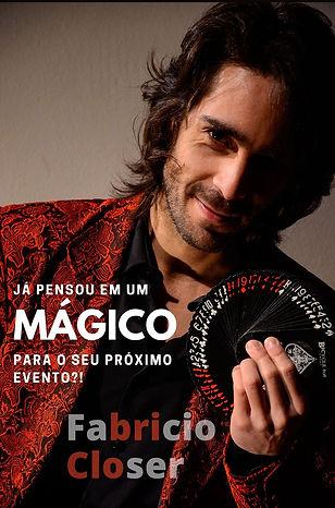 Mágico Ilusionista Fabricio Closer | Mágica de Perto | Mágico em Curitiba / Pr