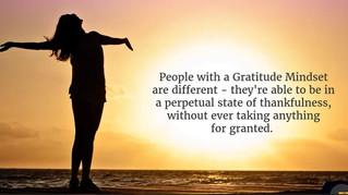 Developing A Gratitude Mindset