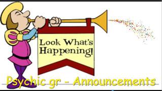 Psychic gr Announcements June 2020