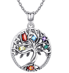 Sterling Silver Pendant, Tree of Life Ne