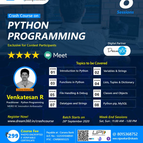 Crash Course on Python Programming