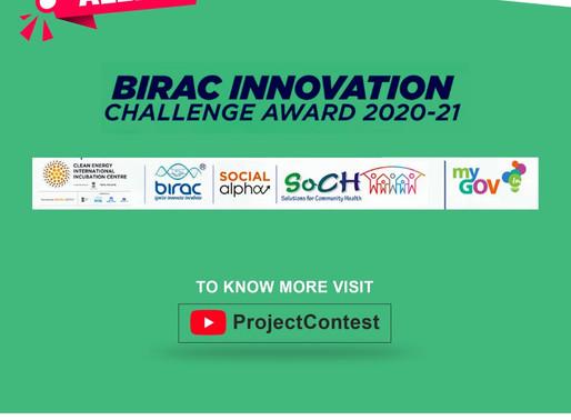 BIRAC Innovation Challenge 2020-21