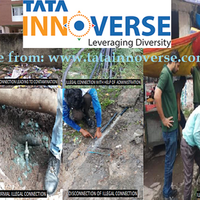 TATA INNOVERSE - Illegal tapping of water connections in the drinking line water network