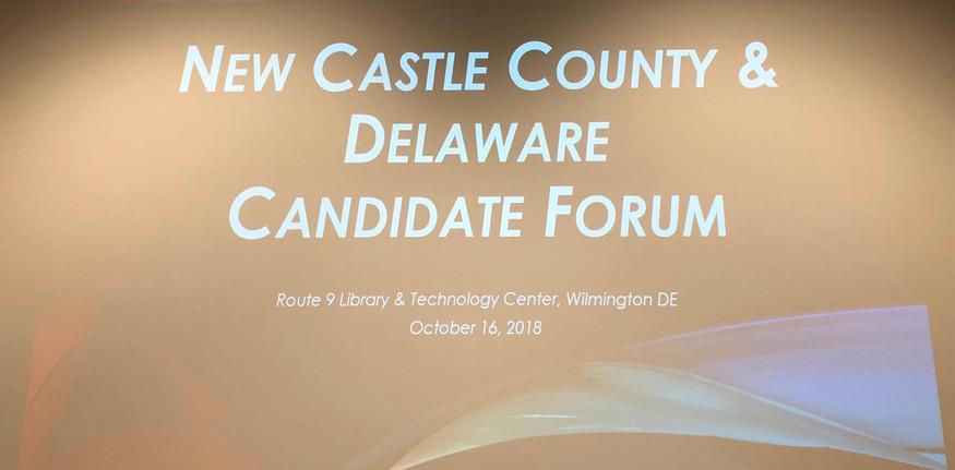 New Castle Co. DE.  Canidate Forum