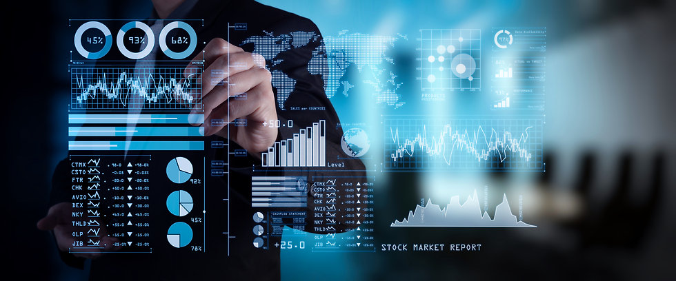 Investor analyzing stock market report a