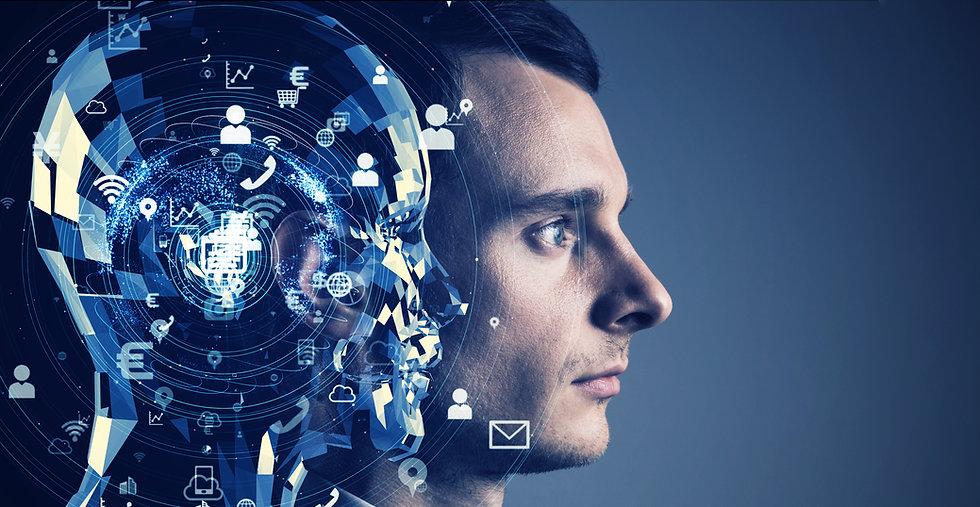 AI (Artificial Intelligence) concept. Co