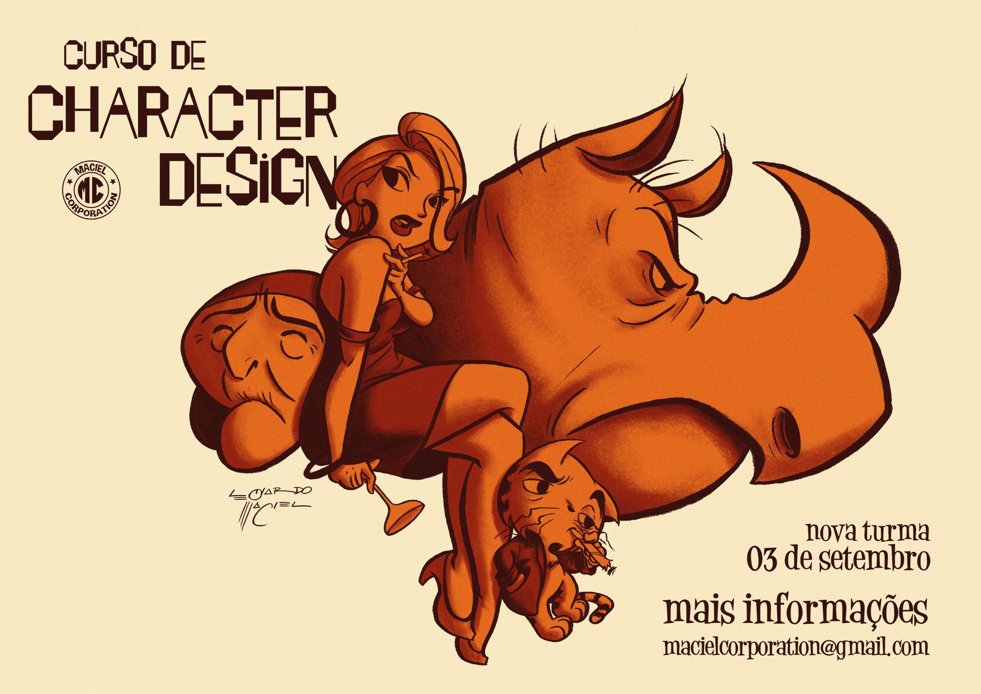 Poster Curso de Character Design