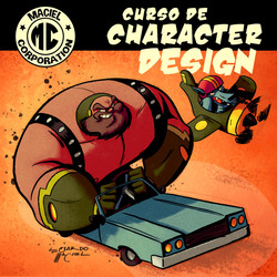 Poster Para Curso de Character Desig
