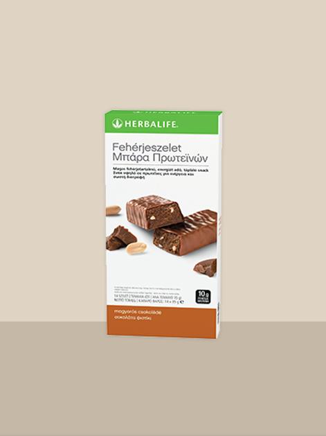 Fehérje szelet – mogyorós-csokoládés ízű (14 db / doboz)