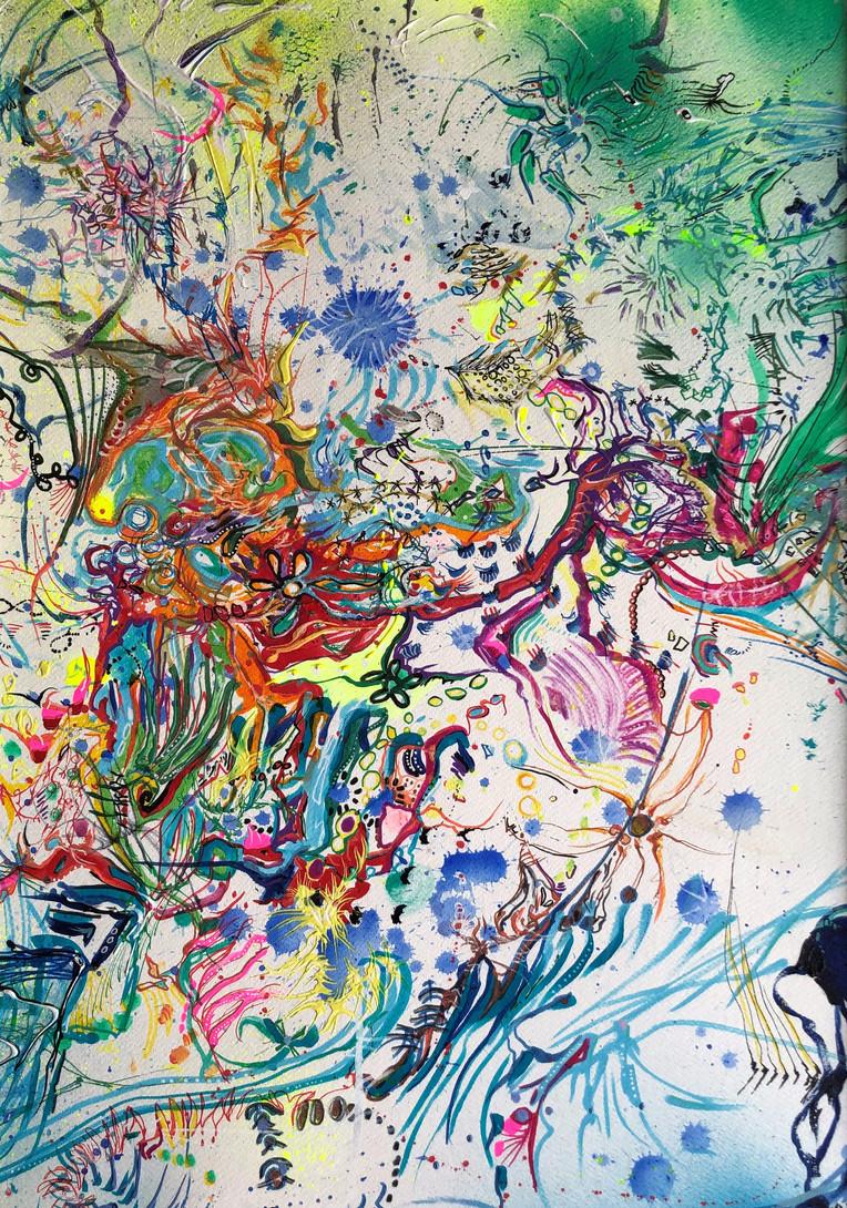 Nature - techniques mixtes sur papier aquarelle - 42x59 cm - 2021