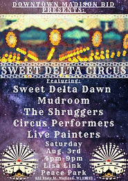 Sweet Delta Circus Poster - August 3rd.j