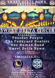 Sweet Delta Circus Poster - August 3rd (