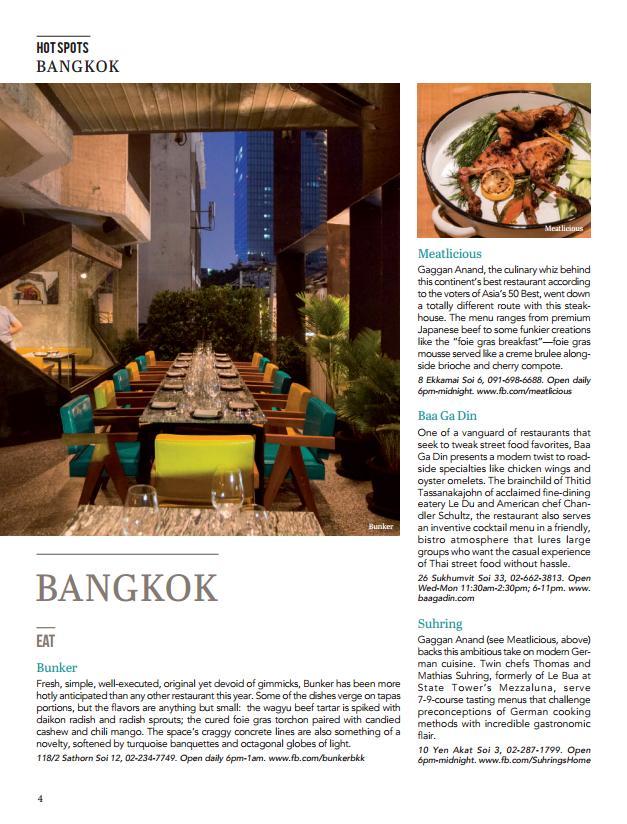 Thailand Hot Spots 2016