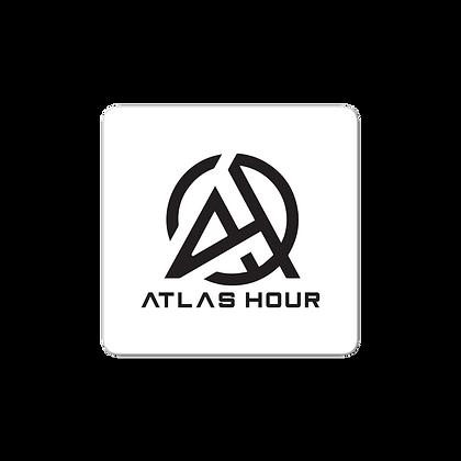 Atlas Hour Sticker White