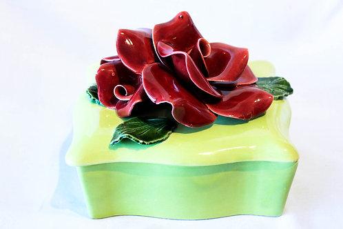 Ceramic rose box