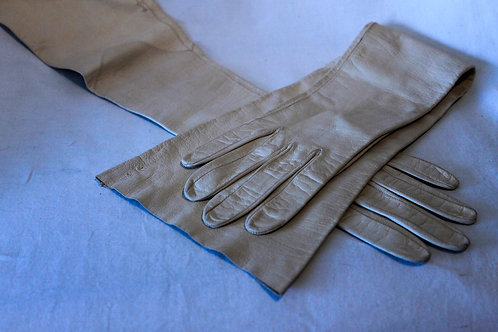 Beige children gloves