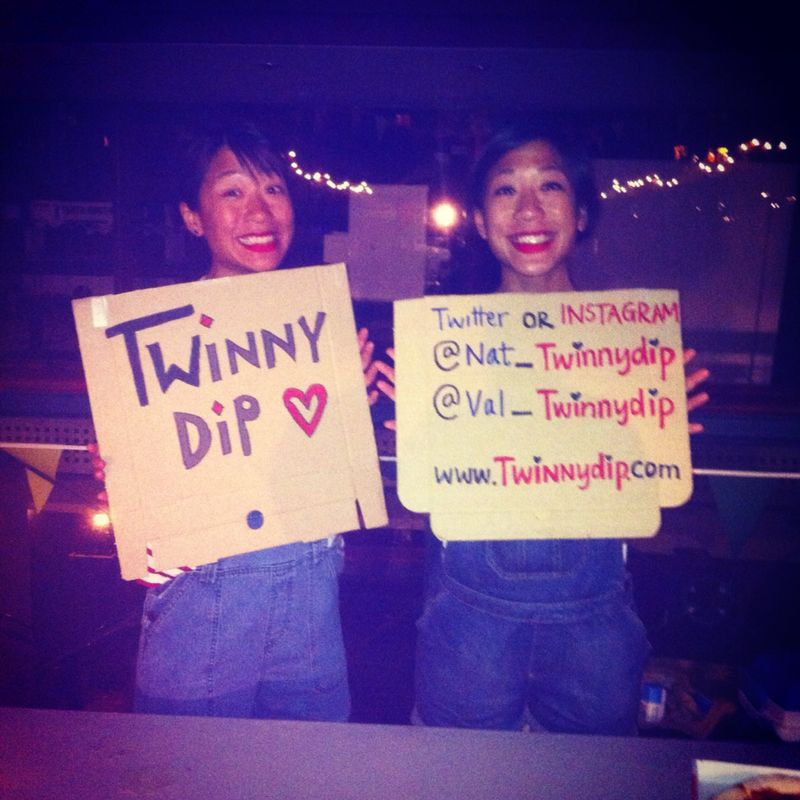 TwinnyDip with signs