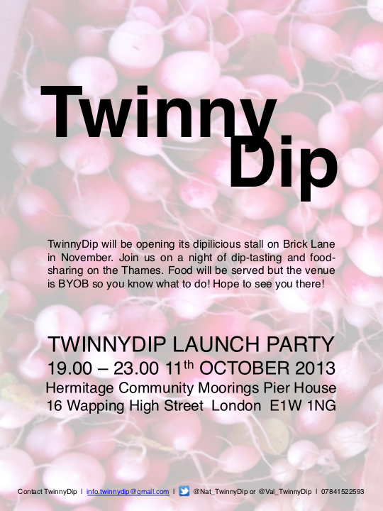 TwinnyDip Launch Party Poster