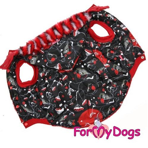 С2 р-  куртка на крупную собаку (доберман, далматин, булли...)