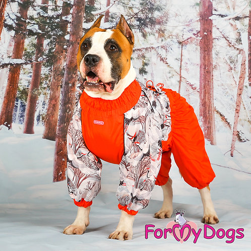 В3 р- Комбез облегченный на собаку размером со стаффа (бультерьер, эрдель, аусси