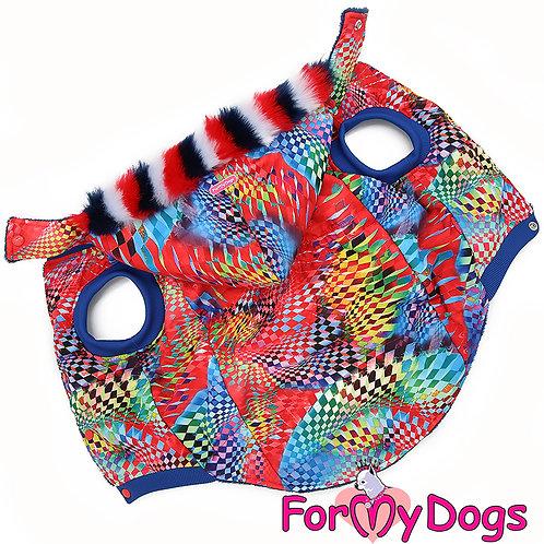 Куртка на крупную собаку (капюшон съемный)