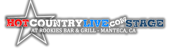 Hot Country Live Stage at Rookies Manteca Logo