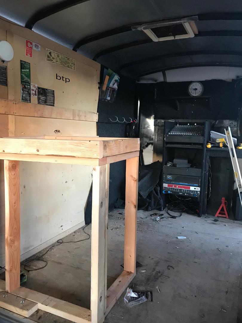 Inside: In retrofit stage