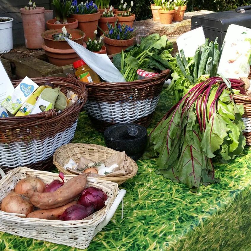 Heerlijk buitenkoken met biologische groenten en producten van het seizoen