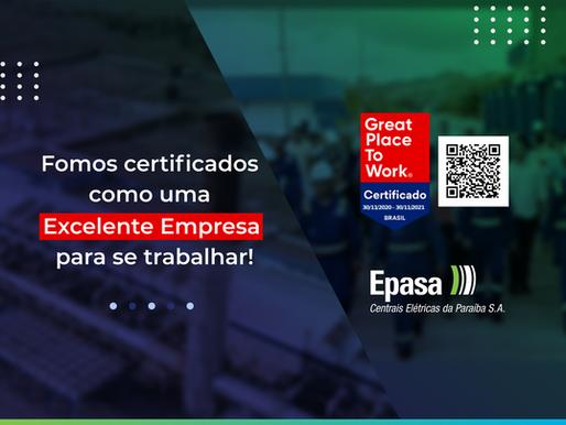 Epasa conquista a Certificação Great Place To Work – GPTW pelo segundo ano consecutivo