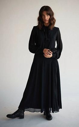Plited Maxi Dress