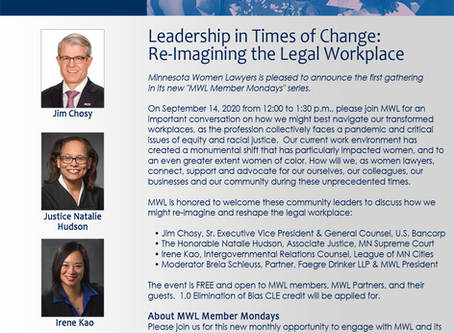 CLE - Leadership in Times of Change: Re-Imagining the Legal Workplace