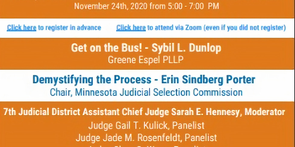 MN 7th District:  Demystifying the Path to the Bench