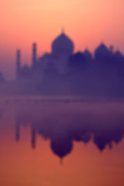 Taj Mahal Reflected in the River at Sunr
