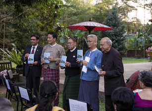 Myanmar Launch of Gandhi's Outstanding Leadership By P.A. Nazareth