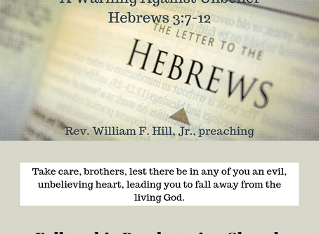 Sermons for Lord's Day, October 13, 2019