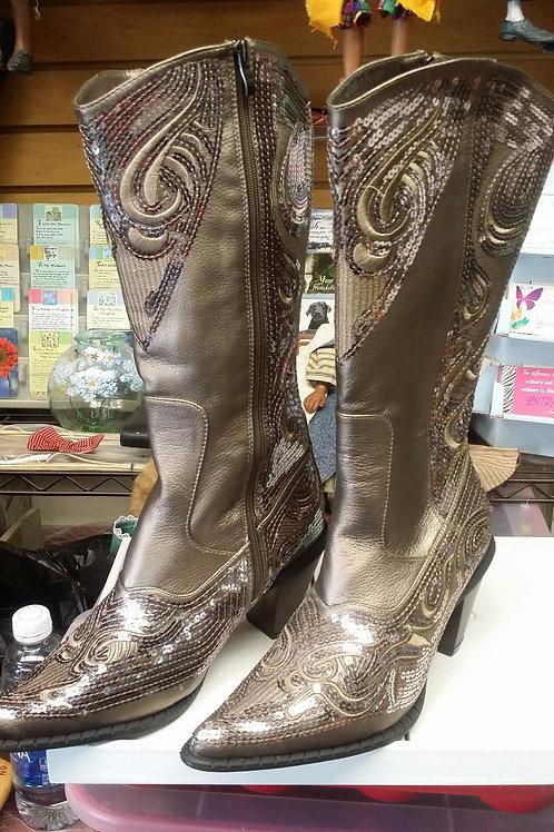 Rhinestone Cowboy Boots : size 12