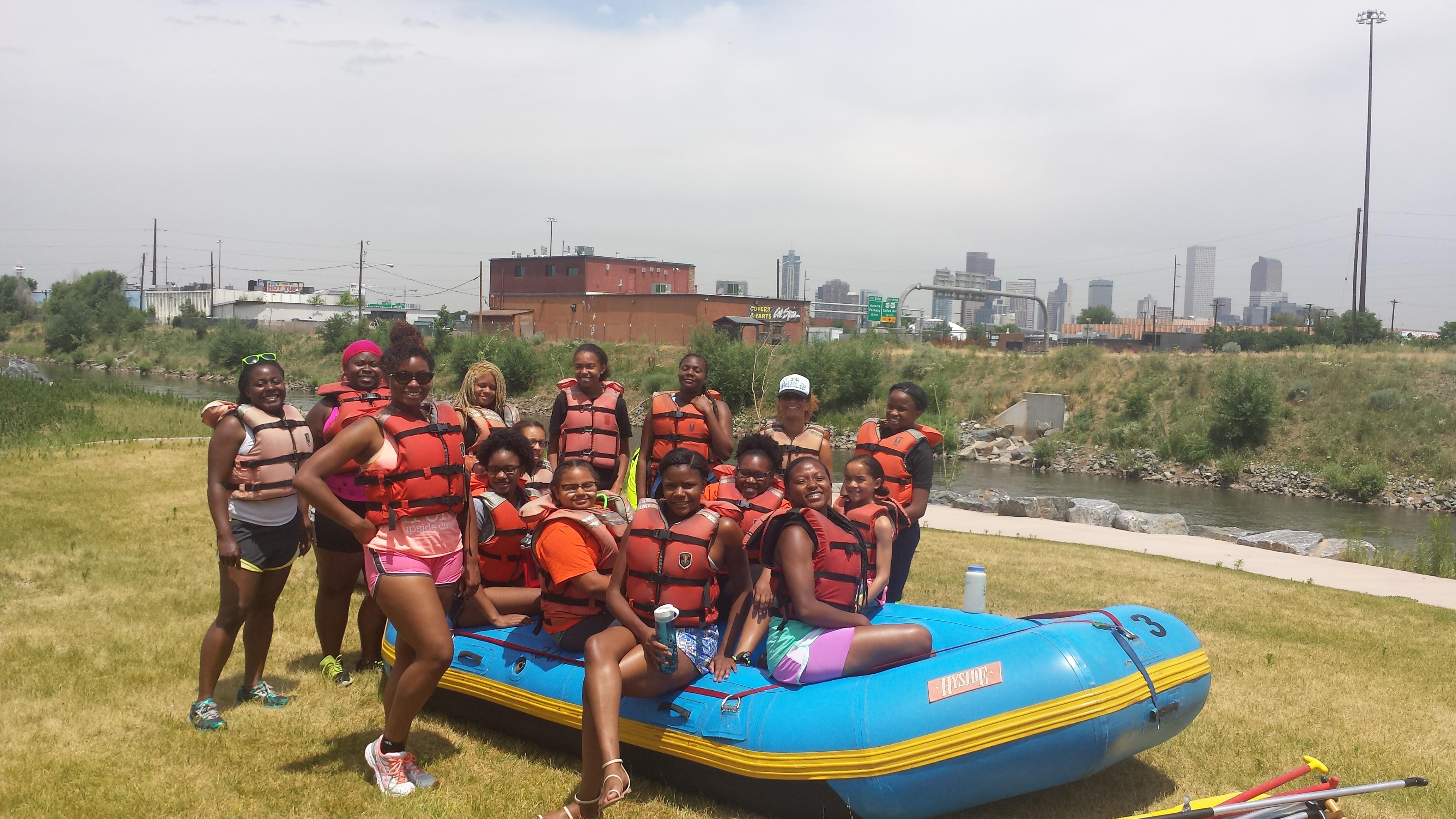 Girls Outing to Raft!
