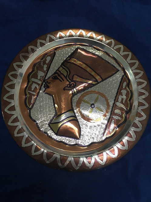 African Gold Plate: Copper and Silver: Made in Egypt