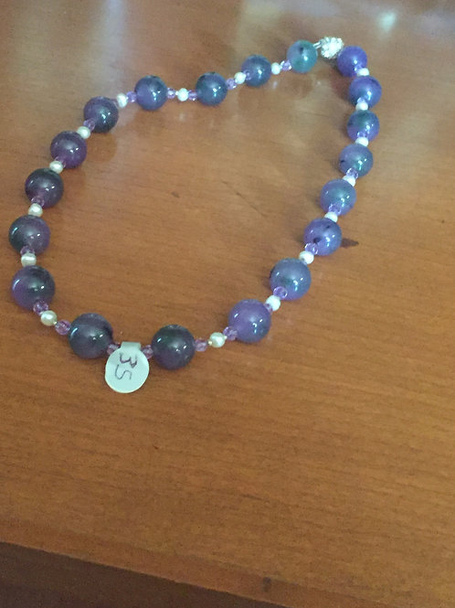 Lavender Beaded Knecklace